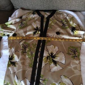 Chicos Silk Flower Blouse